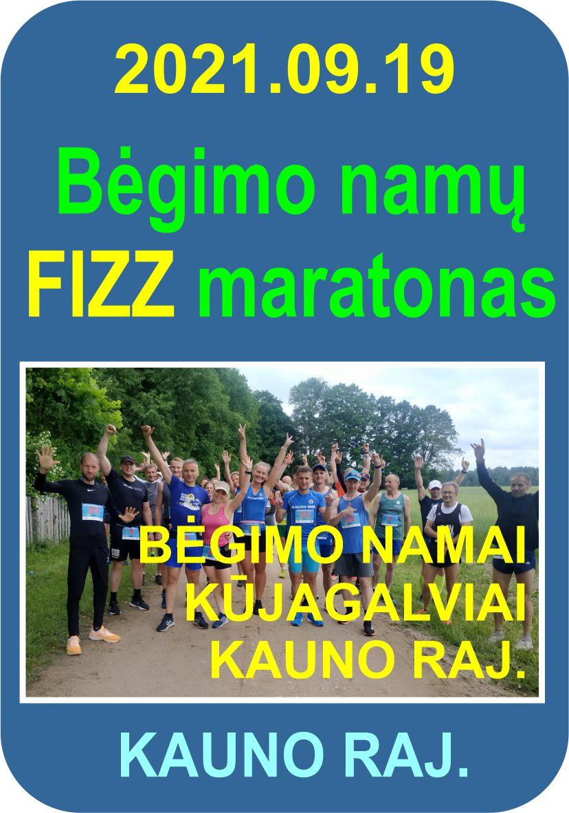 Bėgimo namų FIZZ maratonas 2021