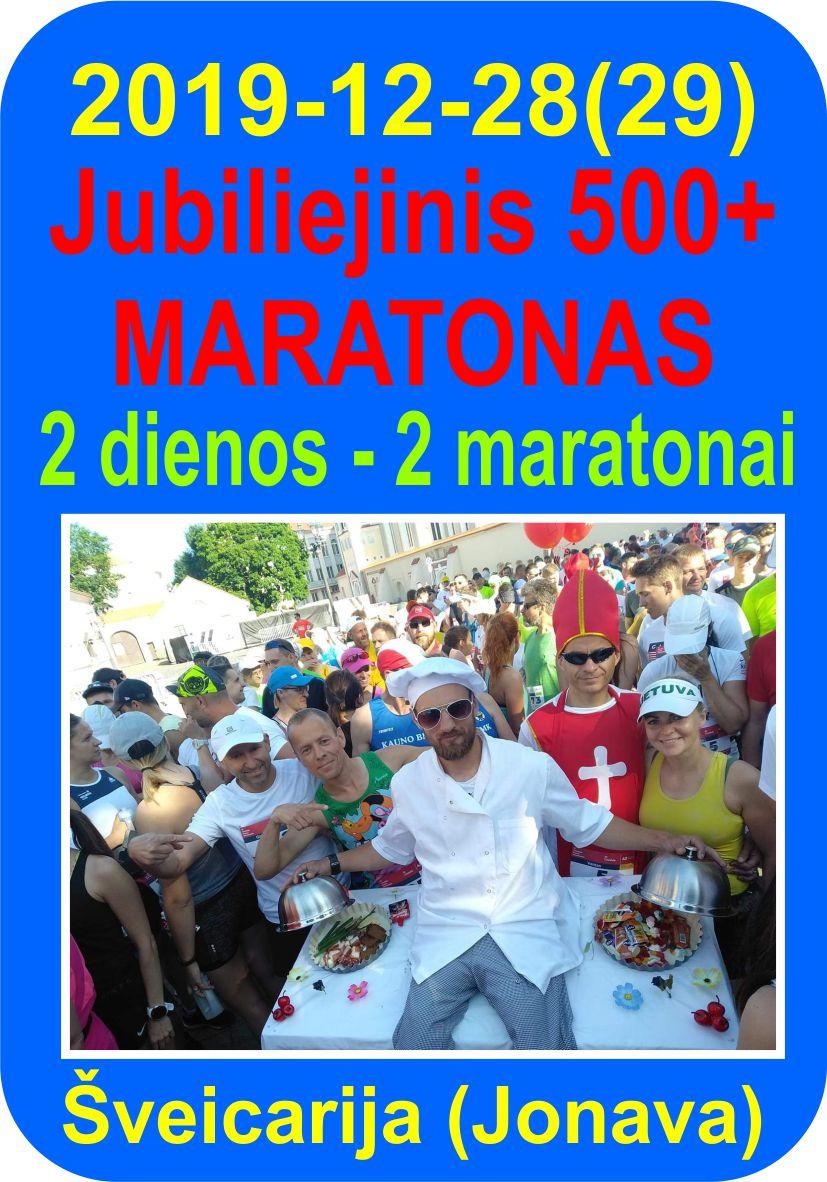 Jubiliejinis 500+ maratonas - Garmus bėga 500-ąjį maratoną