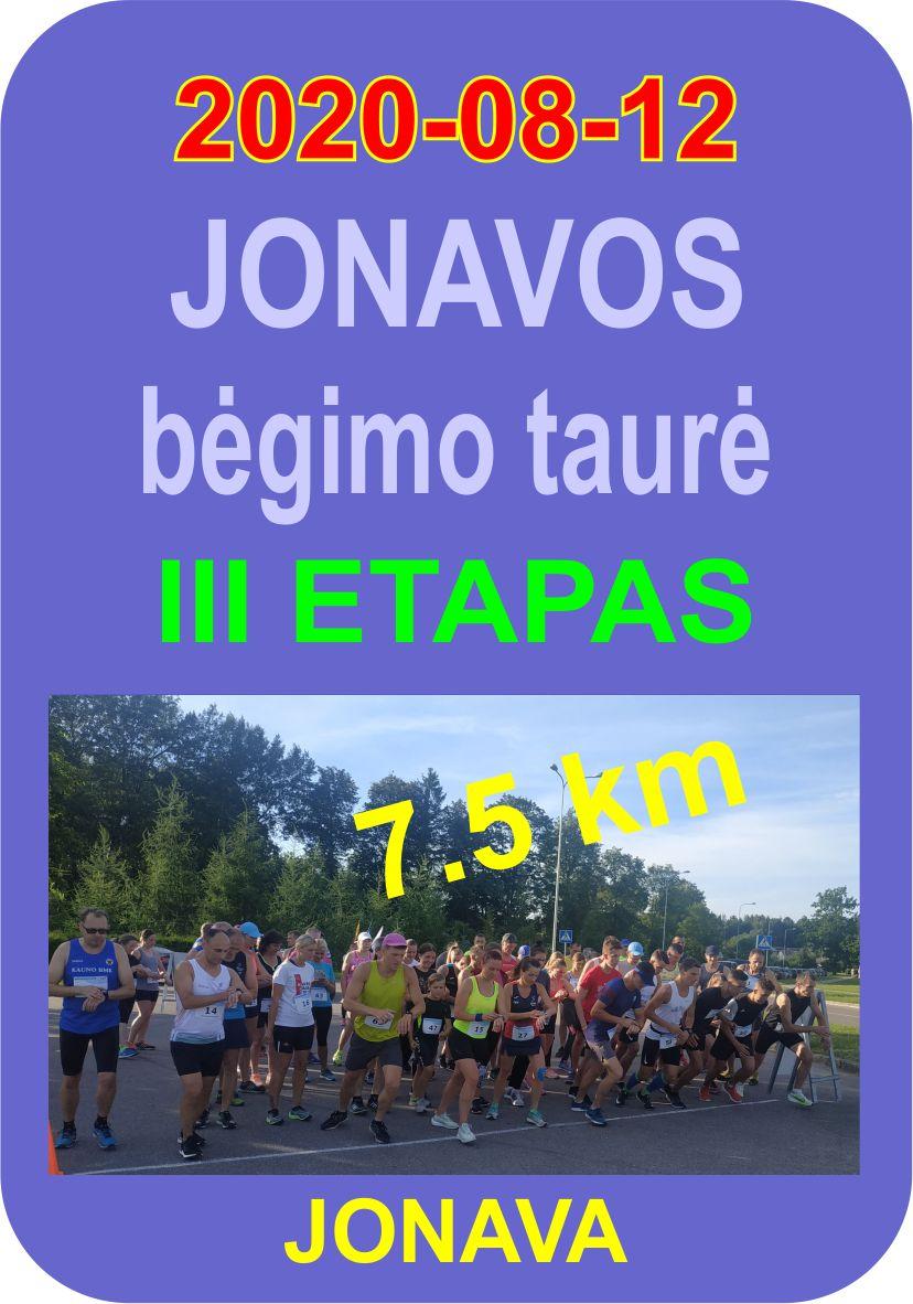 Jonavos bėgimo taurė 2020