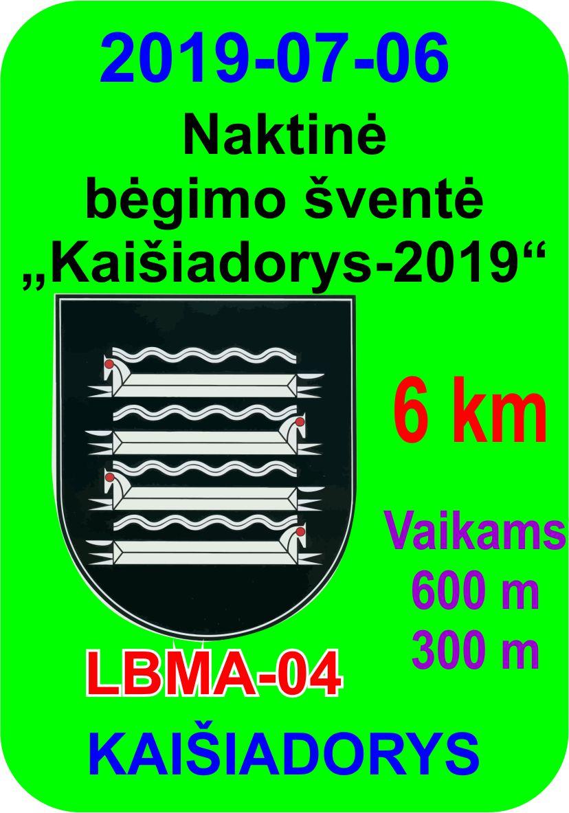 Naktinė bėgimo šventė 'Kaišiadorys-2019'