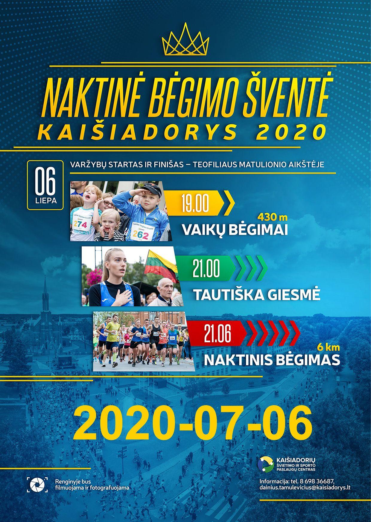 Naktinė bėgimo šventė 'Kaišiadorys-2020'