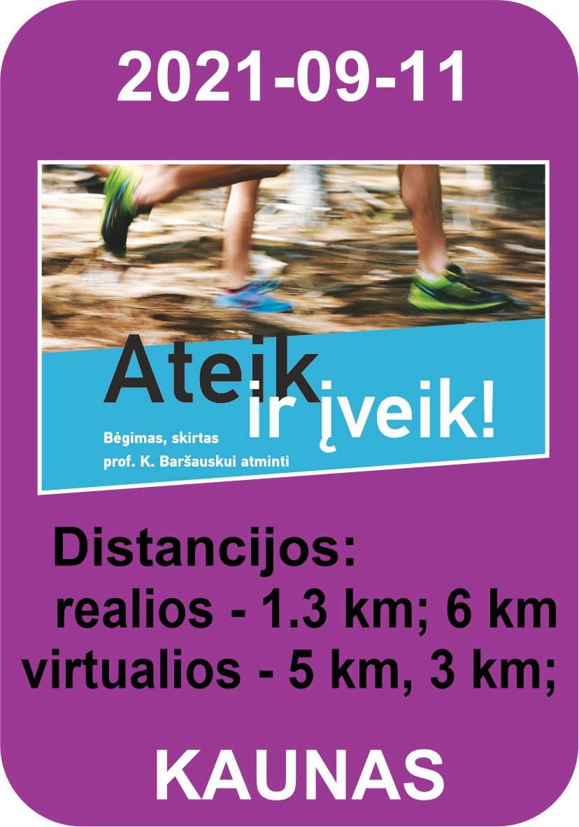 KTU trail bėgimas 'Ateik ir įveik!!!'