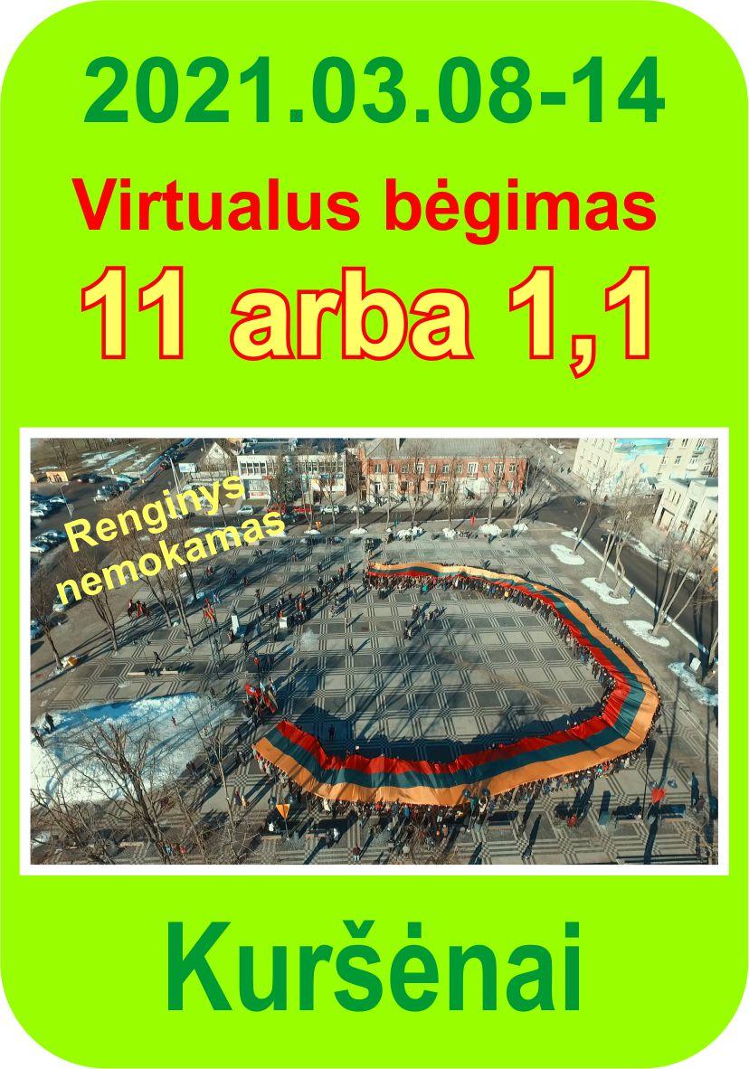 Virtualus bėgimas: 11 ARBA 1,1