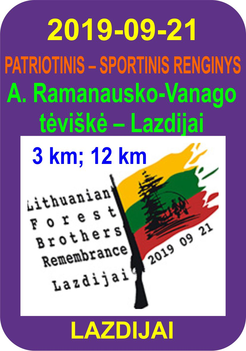 Bėgimas A. Ramanausko-Vanago tėviškė – Lazdijai