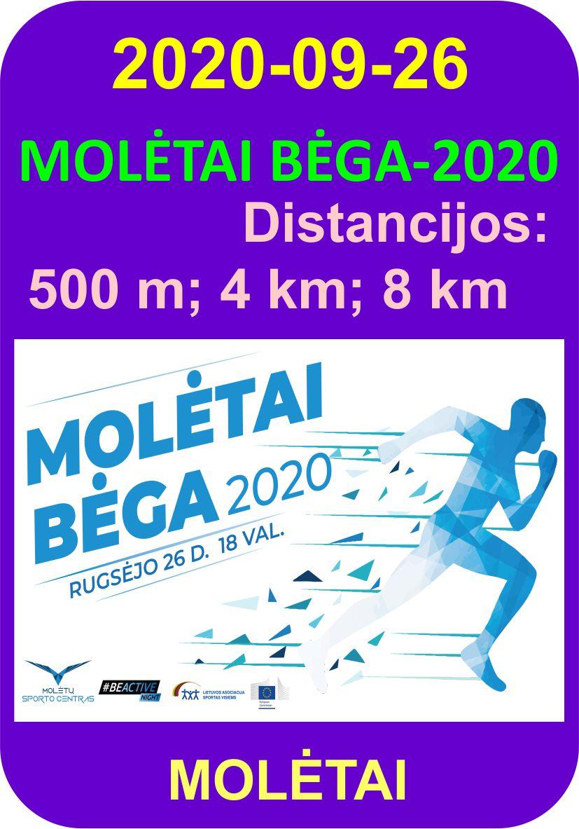 MOLĖTAI BĖGA-2020