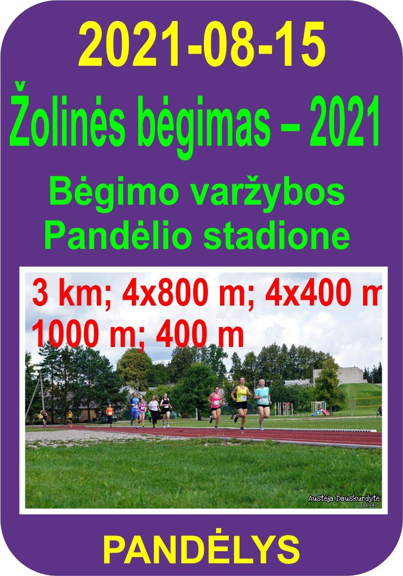 Bėgimo varžybos Pandėlio stadione