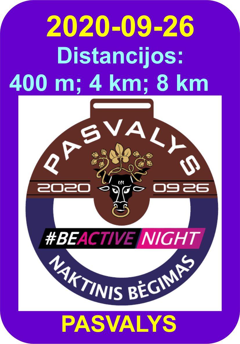 #BeActive Night PASVALYS 2020