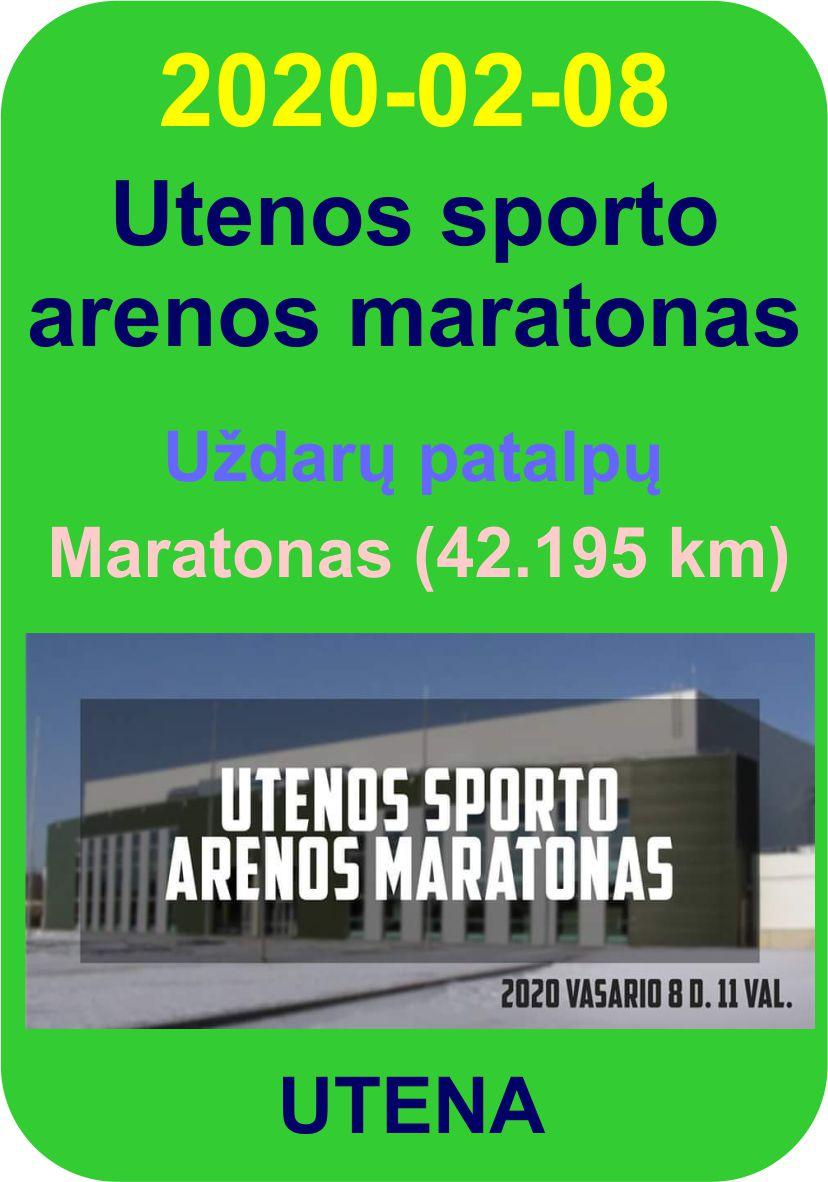 Utenos sporto arenos uždarų patalpų maratonas