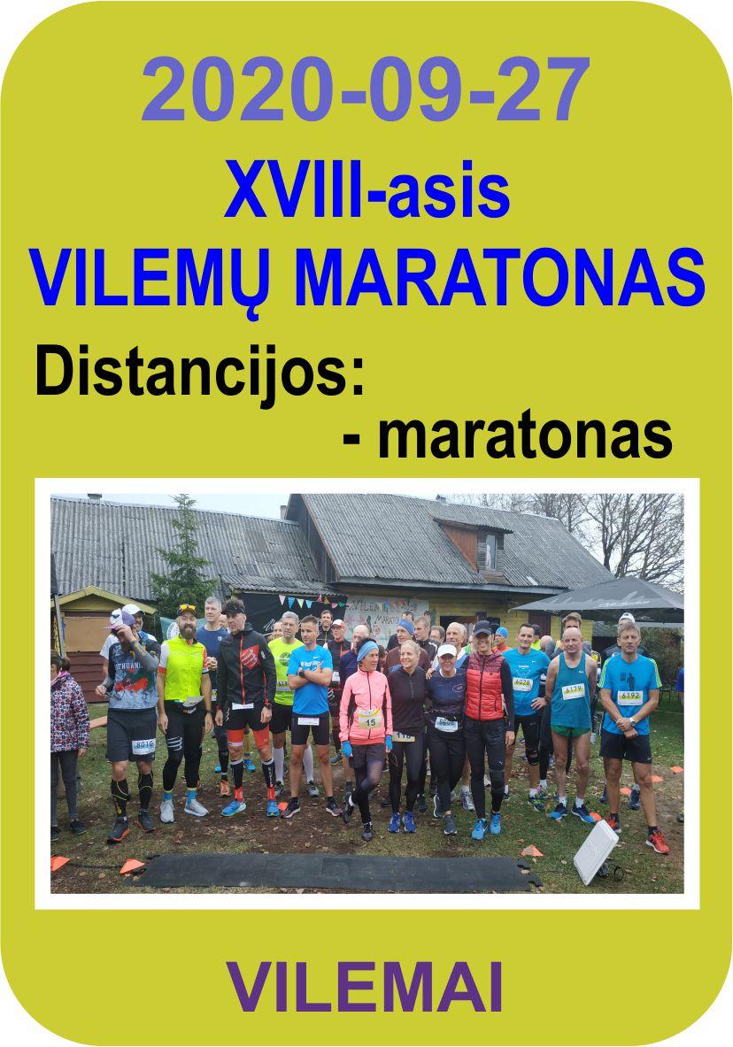 XVIII-asis Vilemų maratonas